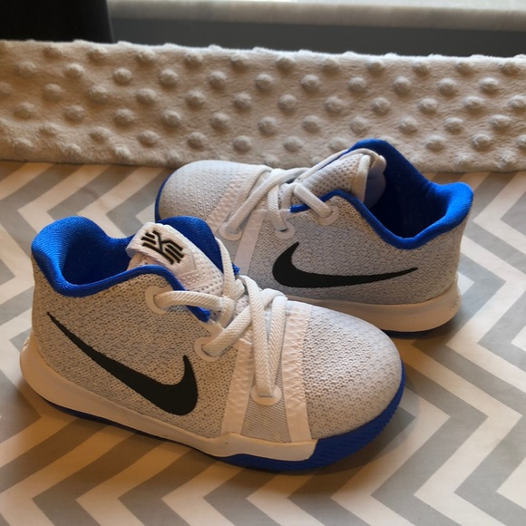 best sneakers c2bd0 6b1b6 Nike Kyrie Iii (PS) White Black-Hyper Cobalt. M 5ae5d1505512fdfad605aa3a